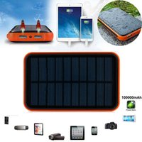 Wholesale 6000mah Waterproof solar charger Universal power bank dual usb externl battery