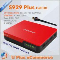 america core - TocomFREE S929 Plus USB WiFi FTA Digital Satellite Receiver Full HD DVB S S2 IKS SKS IPTV South America