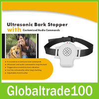 bark stopper - Ultrasonic Bark Stopper With Customized Audio Commands Anti Bark No Barking Electric Shock Vibration Dog Pet Training Collar Remote PET800