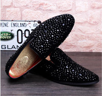 Wholesale 2017 Men Glitter Shoes New Mens Fashion Casual Flats Men s Designer Dress Shoes Sequined Loafers Men s Platform Driving Shoes NXX441