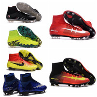 ankle boots cheap - 2016 OrigINal MaGIsta Obra cheap Soccer shoes High Ankle football Boots Men s SuPERfly Cr7 BoTas De FuTbOl HypeRVEnom cleats Neymar NJR X