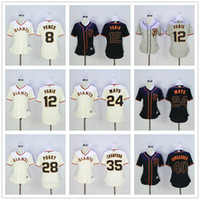 baseball hunter - SF Women Jersey Joe Panik Willie Mays Hunter Pence Buster Posey Brandon Crawford Madison Bumgarner Cream Black