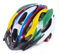 Wholesale Top Helmets High Quality Red White Bike Cycling Helmets Ultralight MTB Road Bicycle Helmets Gears Selectable Colorful Cycling Helmets