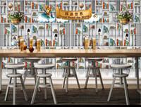 Wholesale 3D photo wallpaper custom d wall murals wallpaper mural D murals Bar Restaurant Theme Backdrop d living room wall decor