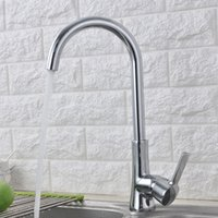Wholesale HS Rotating Kitchen Faucet Durable Kitchen Tap Deck Mounted Made of Brass Electroplated Chrome Plated Color Kitchen water Faucet Brand New