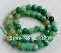 Envío libre caliente del nuevo estilo 2014 de la manera DIY facetadas 6-12mm luz verde fuego Onyx de la ágata del jade de los granos flojos 15