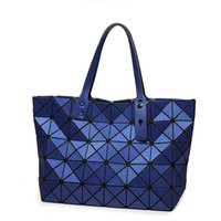 Wholesale Hot Fashion Japan Style Women s Handbag Hight Quality Same As Baobao BAG Geometric LadiesTotes Hang Bag Lattice Dull Matt Color Effect