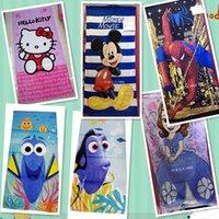 bathroom tails - Kids Mermaid Finding Nemo Beach Towel Finding Dory Mermaid Tail Bathing Towels Frozen Minnie Swim Towels Buzz Minion Bathroom Towels HHA1004