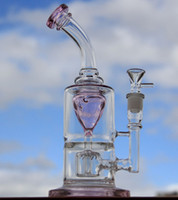 best tobacco brands - Torus twin DK Brand gass bong water pipe Best quality Big base recycler oil rig tobacco hookah two function