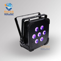 Wholesale X New Arrival Wifi W IN1 RGBAW UV LED Flat Par Can ADJ LED Par Light Disco Event Effect Light For Productions