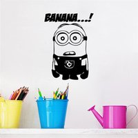 Wholesale funny cartoon movie Despicable Me Cute Minions wall sticker for kids room bedroom decal baby boy girl gift toy