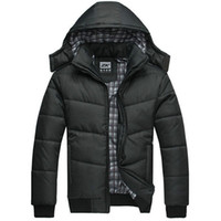 Wholesale 2016 new Winter Coat Men quilted black puffer hiking jacket warm male overcoat parka outwear cotton padded hooded down coatl