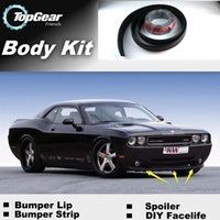 Wholesale Bumper Lip Lips For Dodge Challenger SRT MK3 Front Skirt Deflector Spoiler For Car Tuning The Stig Recommend Body Kit Strip