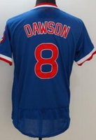 Wholesale Chicago Cubs DAWSON Baseball Jerseys discount Cheap mens Athletic Outdoor SANTO SCHWARBER TOP Baseball Wear shirT