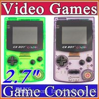 Wholesale Kong Feng GB Boy Classic Color Colour Handheld Game Console quot Game Player with Backlit Built in Games B YXJ