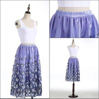 beautiful women mini skirts - Beautiful Butterfly Skirts Cheap Purple Color Tea Length Skirts For Women Real Images Mini Party Dresses Cheap