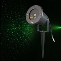 Wholesale Cheap Waterproof IP65 Red and Green Projector Outdoor Garden laser Star light Tree Landscape lamp with wireless remote control