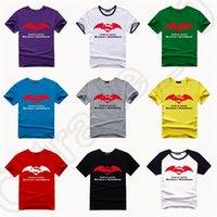 batman logo shirt - 10 Colors BATMAN V SUPERMAN Dawn of Justice Movie Logo Print T shirts Casual Cotton Fit T shirt Crew Neck Tee LJJJ80