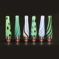 Conseils pour e cig Avis-NOUVEAU 510 longue Drip Tip E Cigarettes verre Drip Tip Jade Drip Tip avec des conseils d'égouttement en acier inoxydable pour e cig atomiseur Becs