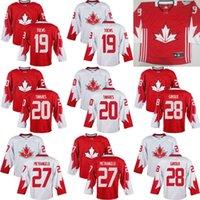 Cheap Mens Team Canada 19 Toews 20 John Tavares 27 Alex Pietrangelo 28 Claude Giroux 2016 World Cup of Hockey Olympics Game White Jersey Stitched