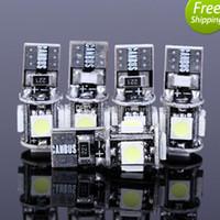 Wholesale 20pcs Led T10 LED NO Error Canbus W5W SMD Error Free White Wedge Car Led Light Auto Bulb blubs Parking For Ford Focus
