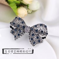 Wholesale The hair clip top antique retro bowknot hairpin Korean side clamp