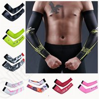 Wholesale 34 color LJJK192 cheji Stretch Sport Skins Sun Anti UV Protection Gloves Elbow Length Driving Arm Cooling Sleeve Covers pair