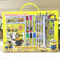 Wholesale Student School Supplies Stationery Cartoon Sophia Frozen Cars Spiderman Minions Children Stationery Set Kid birthday gifts colour pen