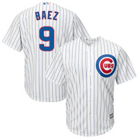 Wholesale 2016 new arrive Men s Chicago Cubs Javier Baez White Home Baseball Jersey top quality