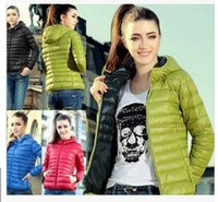 Wholesale Women Down winter new European and American female hooded down jacket outdoor jacket thick jacket hooded down jacket coat jacket free s