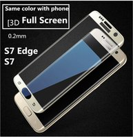 Wholesale S7 Edge Full Screen Film Protector tempered Glass for Samsung S7 Ultra thin Super durable