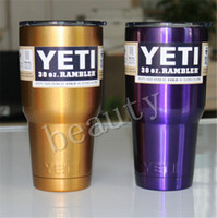 Wholesale Camouflage Metal Colors New Yeti Cups oz Closter Cooler YETI Rambler Tumbler Travel Vehicle Beer Mug Double Wall Bilayer Vacuum Insulated