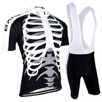 bicycles cube - 2016 New Arrival Cycling Jerseys Sets Bones Printed Black Cycling Clothing Compressed Cube Bicycle Cutfits BX H042