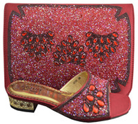 big bags on sale - Cherry Lady Fashion italian shoes with matching clutch bag hot sales for african big wedding with low heel Slipper design wine