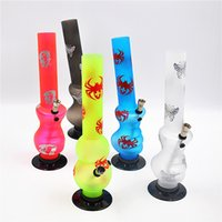 acrylic roll - 300mm Silk printing frosted portable acrylic smoking bong spice water smoking pipe shisha hookah rolling machine paper herb grinder
