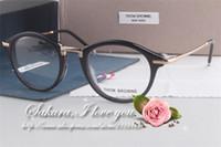 big round reading glasses - New York eyewear Brand full frame Retro big round glasses frame women metal circular frame fashion eyewear plane men reading eyeglasses