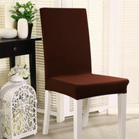 Wholesale Dining Room Polyester Spandex Fabric Chair Covers AntiFouling Chair Cap Slipcovers for Hotel Banquet