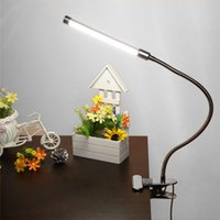 DC art deco types - LED Clip Light Type Desk Clamp Lamp Dimming Reading Eye Table Lights Dimmable Lighting Colors Adjustable USB Clamp Lamp