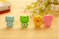 Wholesale Student stationery eraser eraser cute animal teaching a bag of mixed expression pattern