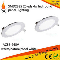 Wholesale LED Downlight w w w w w w w Ceiling Recessed Round LED Panel Light White Warm White for Kitchen Bathroom