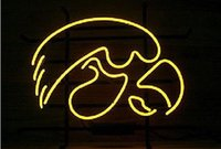 Wholesale IOWA HAWKEYES Glasss Neon Beer Signs Light New
