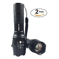 Wholesale Vibelite Lumens T6 LED Portable Zoomable Aluminum Flashlight Adjustable Focus Lighting Lamp Torch for Hiking Camping emergency hol