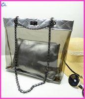 bamboo beach bag - 2016 transparent picture shoulder chain handbag Fashion Korea Beach Zipper famous designer spring and summer