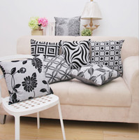 Wholesale Black and gray linen imitation cushion covers modern minimalist fashion sofa cushion cover