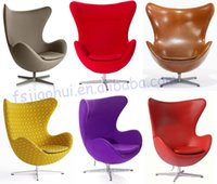Wholesale 2016 hot sale classical living room furniture fiberglass with cashmere swivel arne jacobsen leisure egg chair