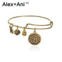 Wholesale 26 letter Alex and Ani bracelets adjustable Retro metal Charm bracelet gold silver expandable pendant bangles band Christmas gifts best