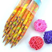 Wholesale 2 Pieces Without Wood Colored Pencils More Drawing Area in Color Graffiti Crayon Drawing Art Supplies Material Escolar