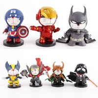 Wholesale 2016 hasbro toy cm action figures do model COS American captain iron man batman jingle birthday car furnishing articles FNAF