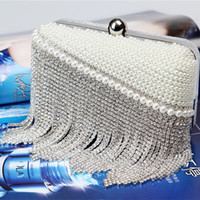 Wholesale Bling Bling Bridal Hand bags Crystal Evening Prom Bags Clutches Elegant Silver Bride Accessories In Stock Open