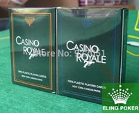 Wholesale CASINO ROYALE New Frosted Plastic Poker Texas Poker Hot selling PC Blue Orange to chosse